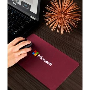 Travel Soft™ Mouse Pad/Microfiber Cleaning Cloth & Keyboard Protector