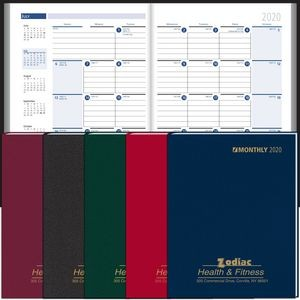 2020 Ruled Monthly Format Stitched to Cover Desk Planner